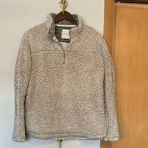 Tread & Supply Sherpa wubby fleece quarter zip